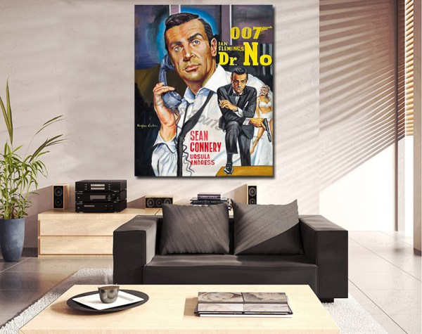 Dr_No_james_bond_movie_poster_painting_canvas_print_sean_connery