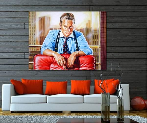 wall_street_michael_douglas_painting_poster_canvas_print_portrait_gordon_gekko_painting