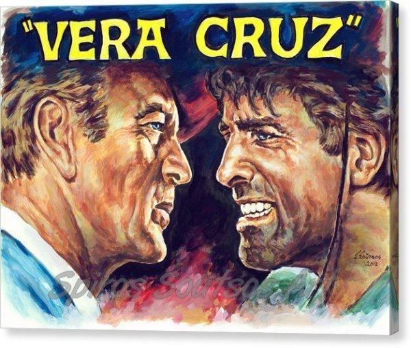 vera-cruz-burt-lancaster-gary-cooper-spiros-soutsos-canvas-print_painting_movie_poster
