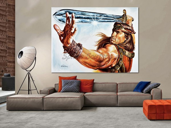 Conan_the_barbarian_painting_poster_arnold_scwharzenegger_portrait_sofa_canvas_print
