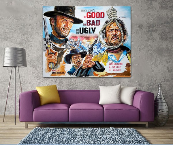 good_bad_ugly_poster_clint_eastwood_paitning_leone_canvas_print_sofa