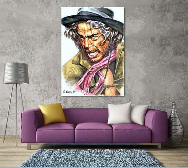 lee_marvin_cat_ballou_painting_portrait_poster_print_canvas
