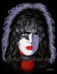 Paul Stanley_Kiss_canvas_print_painting_poster_portrait_solo