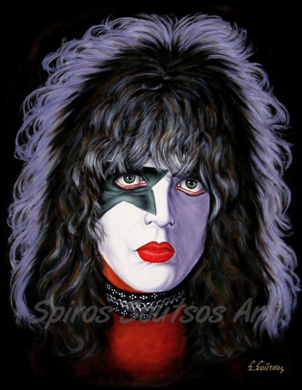Paul Stanley_Kiss_canvas_print_painting_poster_portrait_solo