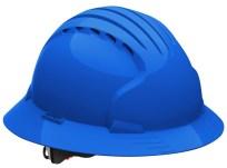 Blue vented hard hat