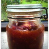 Æblechutney, lækkert til den varme mad.