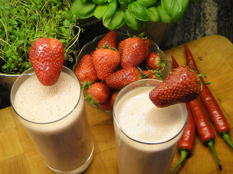 Smoothie med jordbær & chili