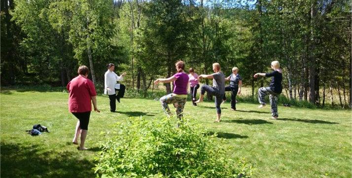 Gruppetrening Tai Chi utendørs