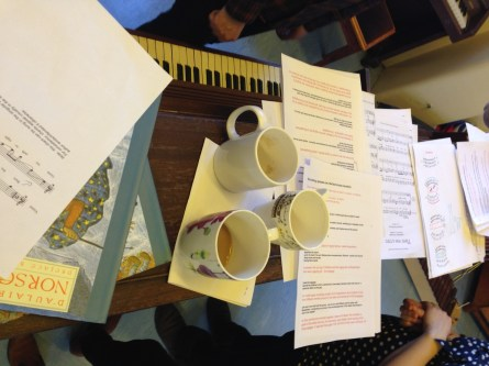 Festival planning with workshop leaders