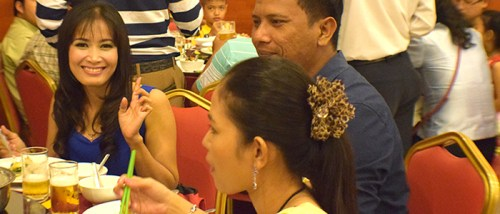 Teachers enjoying their dinner celebration