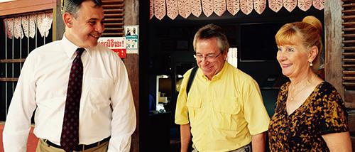 Ambassador Heidt visiting Spitler School