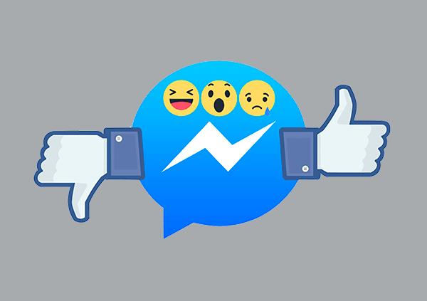 Reações no Facebook Messenger