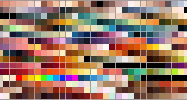 Trocar as cores de um elemento não irá salvar o seu projeto