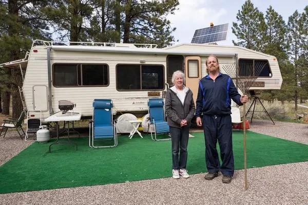 Ralph and Patsy, Campground Hosts. Boulder Mountain, UT