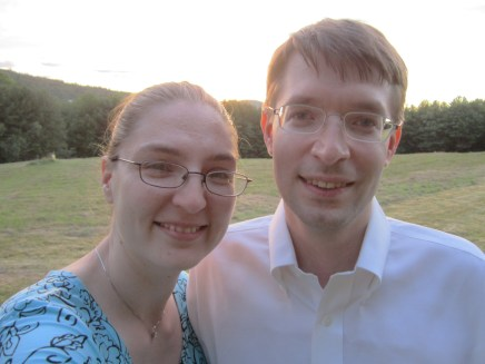 It's a rotten photo of the sunset, but a good photo of us.
