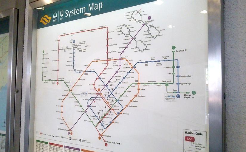 2017 MRT map