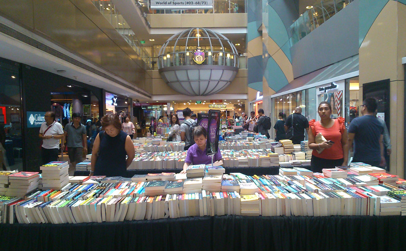Junior Page book sale at Novena Square atrium