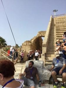 Caesarea steps going up at Roman amphitheater