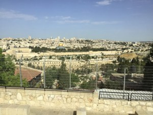 View of Old City from Mount of Olives