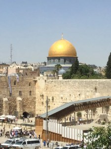 Close up of Wall and Dome of the Rock