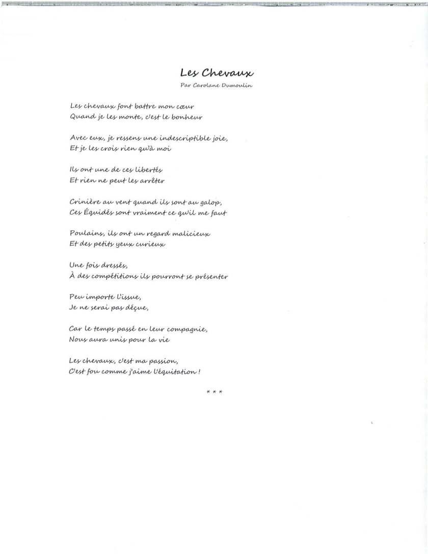 poème Les chevaux_Carolane Dumoulin_concours poésie 2016_MEG