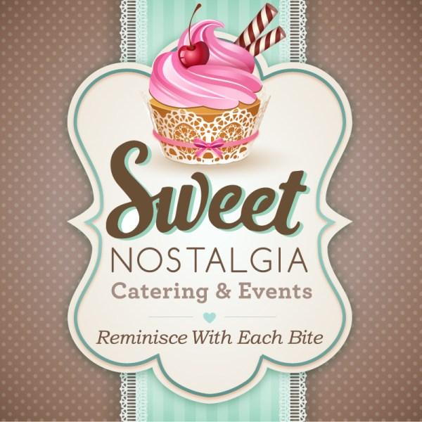 Sweet Nostalgia Catering Business Branded Logo Design