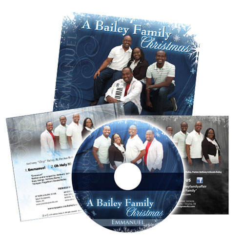 Bailey Family Christmas Music Media package