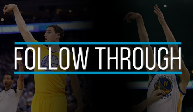 klay thompson shooting follow through