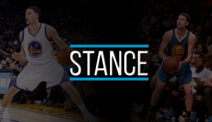 klay thompson shooting form stance