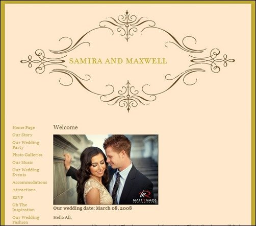 30 Fabulous Wedding Website Templates French Vintage wedding website templates