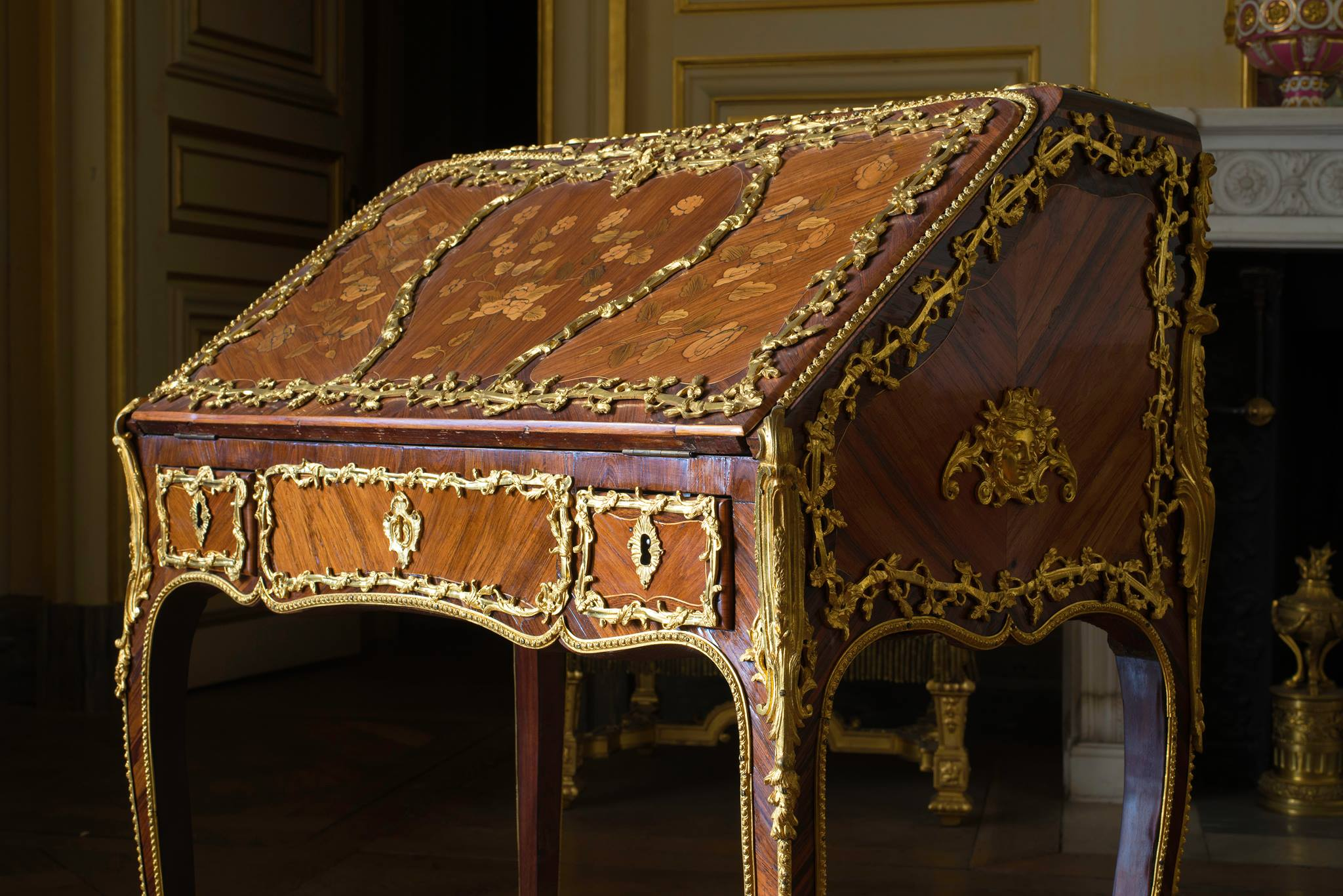 Ornate Jacobin desk (author)