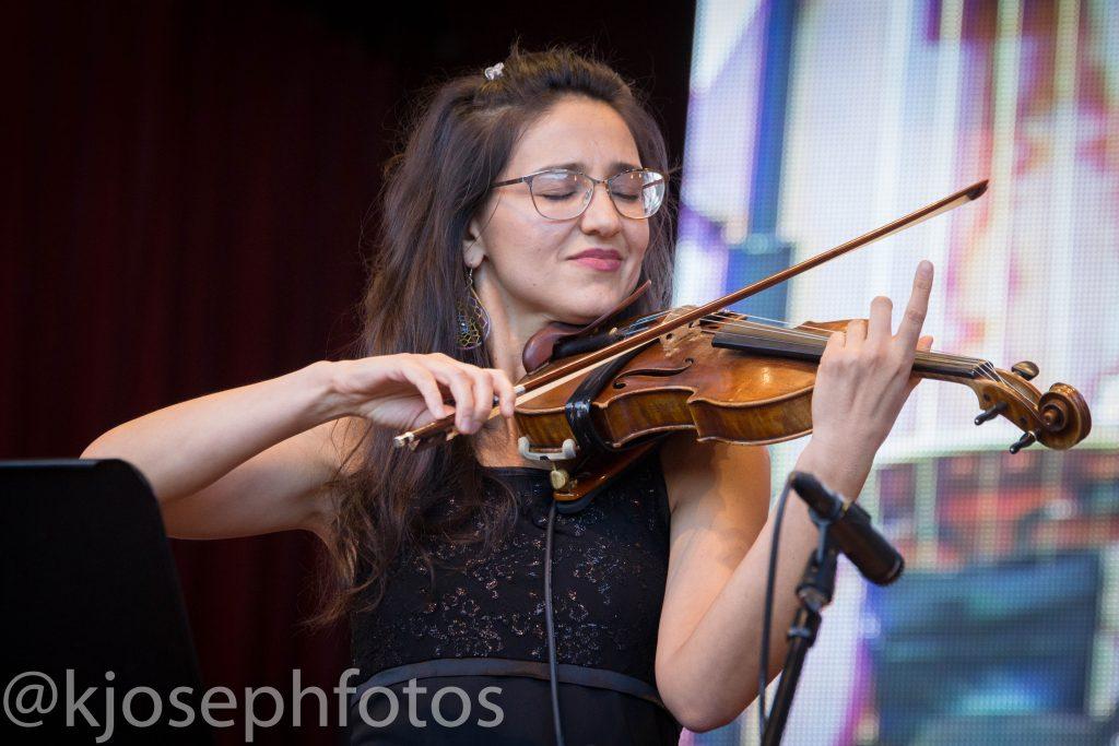 Zaharieva's violin really stood