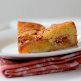 Peach torte: It's peachy keen.