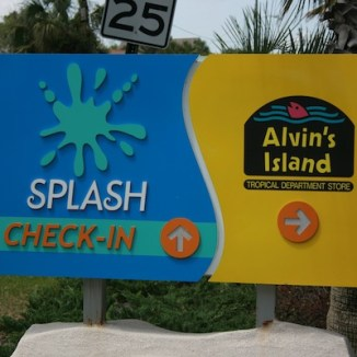 Splash Welcome Sign