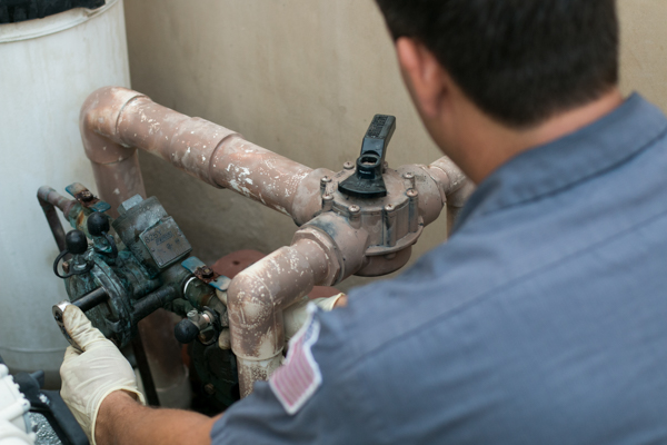 backflow testing at Orange County residence