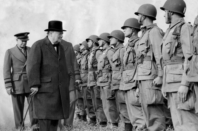 churchill - troops