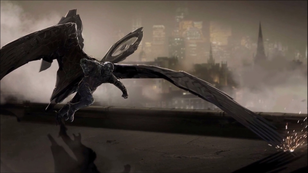 Spider Man Homecoming Vulture On Rooftop Concept Art