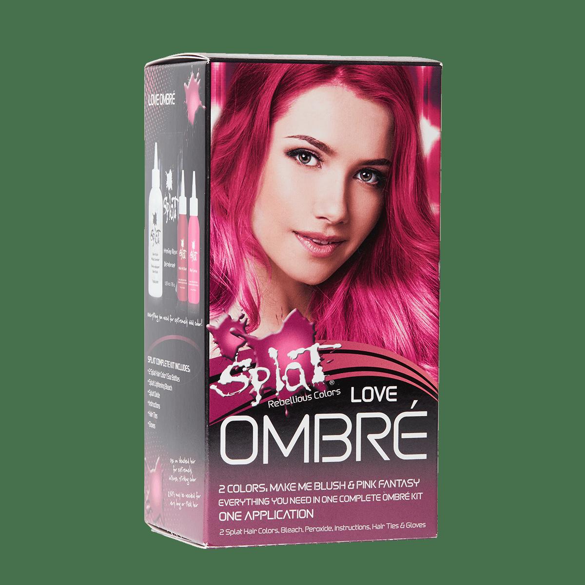 Splat Ombre Complete Kit Ombre Love Pink Semi Permanent Hair Dye