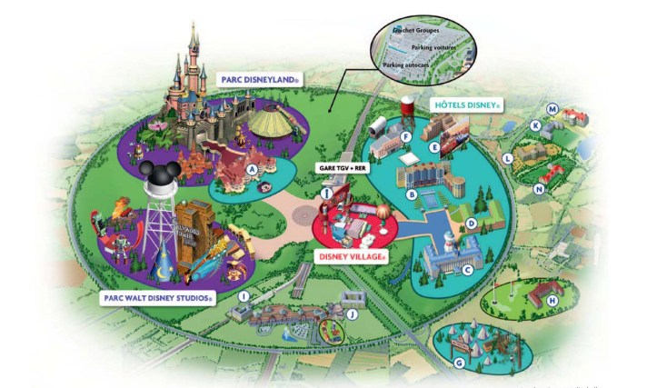 plan des parcs disneyland paris