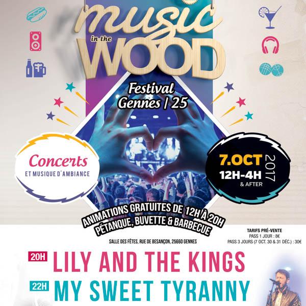 Festival Music Wood : Samedi 7 Octobre à Gennes