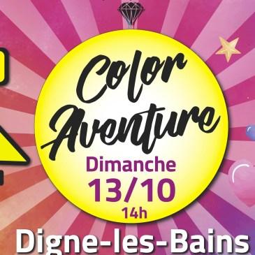 Color Aventure Digne-les-Bains reporté au Dimanche 13 Octobre