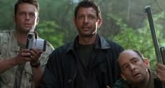 Nick Van Owen (Vince Vaughn), Dr. Ian Malcolm (Jeff Goldblum) und Eddie Karr (Richard Schiff)