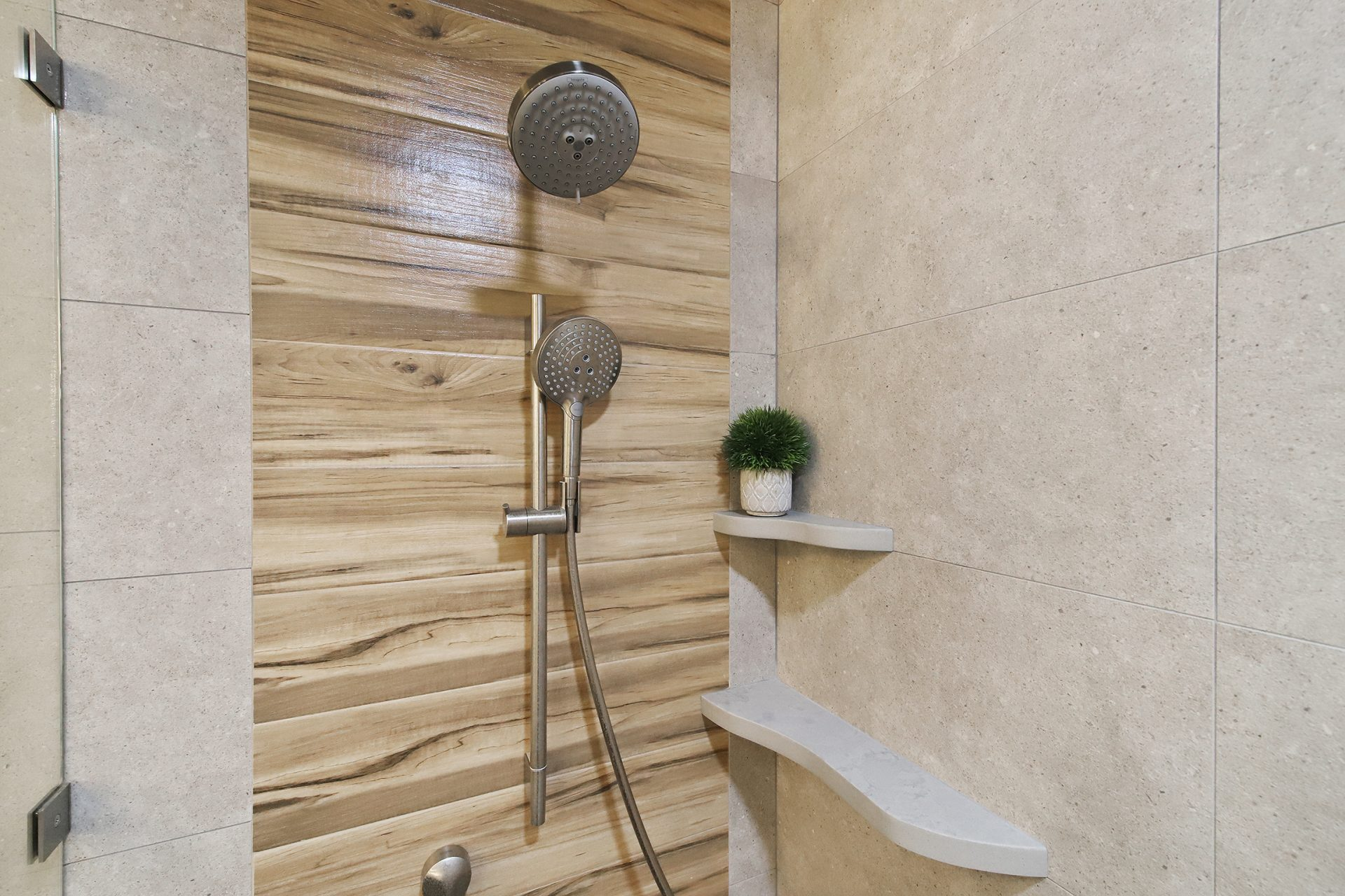 Master Bathroom Sanctuary | Shower Shelving