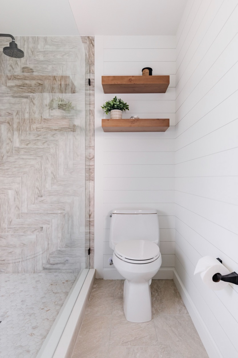 Pomona Street | Shiplap and Floating Shelves