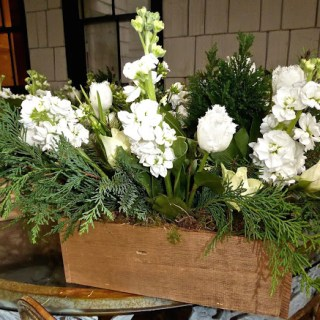 Long living flower arrangements in golden boxes for the holidays …
