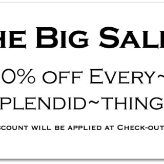 The Big Sale is on!!