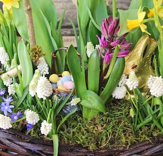 Grocery store flowers can make elegant Easter arrangements…