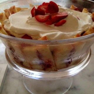 Strawberry trifle…