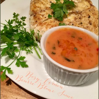 Rosy Lemon Beurre Blanc sauce, bring some sunshine to your dinner…
