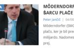 Preverjeno: Möderndorfer z več nadomestila kot Šarec plače